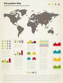 Info graphic map — Stock Vector