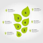 Bilgi grafik bitki — Stok Vektör