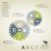 信息图形的齿轮 — 图库矢量图片