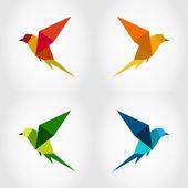 Vogel-abstraktion — Stockvektor