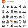 Industrial icons — Stock Vector
