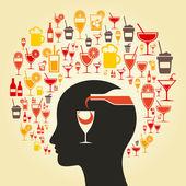 Alcohol a head — Stock Vector