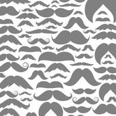 Background made of moustaches — Stockvector