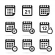 Set of icons a calendar — Stock Vector