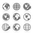 Set of icons of the world — Stock Vector
