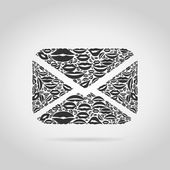 Письмо из губ — Cтоковый вектор