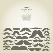Frame of moustaches for design — 图库矢量图片