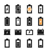 Set of icons of batteries — Stock Vector