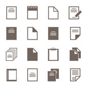 Set of icons of files. — Stock Vector