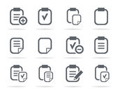 Set of icons of files — Stock Vector