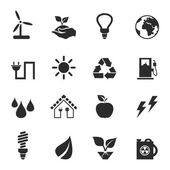Set of icons ecology — Stock Vector