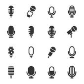 Set of icons a microphone — Stock Vector
