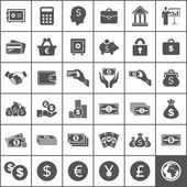 Set of icons of money. — Stock Vector