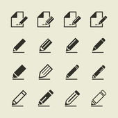 Set of icons a pencil — Stock Vector