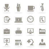 Set of icons office — Stock Vector