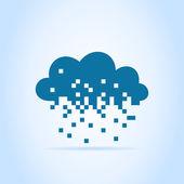 Cloud made of pixels — Stock Vector