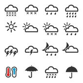 Set of icons weather — Stock Vector