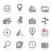 Set of icons travel — Stockvector