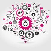 Clothes a gear wheel — Stock Vector