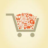 Holiday a cart — Stock Vector