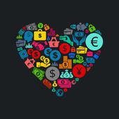 Iş kalp — Stok Vektör