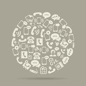 Communication circle — Stock Vector