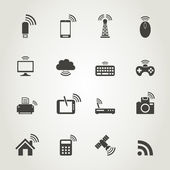 Icon communication — Stock Vector