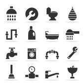 Icons sanitary technicians — Stock Vector