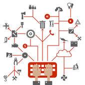 Nástroj síť — Stock vektor