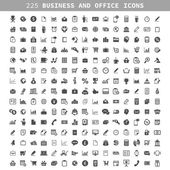 Collection of icons on a theme business and office — Stock Vector