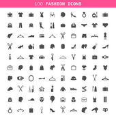 Collection of icons on a theme a fashion and clothes — Stock Vector