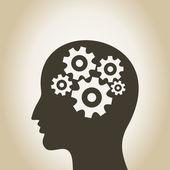 Gear wheel Head — Stock Vector