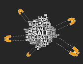 Pole sklo prodeje — Stock vektor