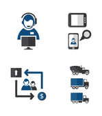 Process icons — Stock Vector