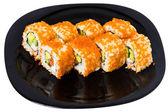 "Maki sushi with caviar ""Tobiko"". — Stock Photo"