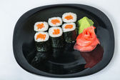 Sushi with salmon on a plate. — Stock Photo