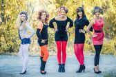 Autumn girls party — Stock Photo