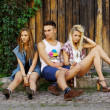 Stock Photo: Fashion shot of trendy group of young