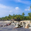 Incredible indibeaches, Black Beach, Varkala. Kerala, India. — Stock Photo #37745213