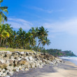 Incredible indibeaches, Black Beach, Varkala. Kerala, India. — Stock Photo #37745383