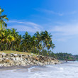 Incredible indibeaches, Black Beach, Varkala. Kerala, India. — Stock Photo #37745735