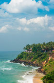 View on a Varkala tropical beach, India Kerala — Stock Photo