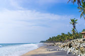 Incredible indian beaches, Black Beach, Varkala. Kerala, India. — Stock Photo