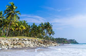 Incredible indian beaches, Black Beach, Varkala. Kerala, India. — Foto Stock