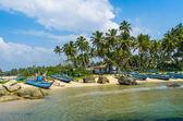 Tropical beach in Sri Lanka — Stock Photo
