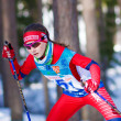 Ski sprint race — Stock Photo