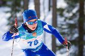 Ski sprint race — Stock Photo