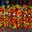 Stock Photo: Bunches of peppers