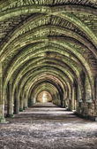 Internal structure of an ancient Monastery — Stock Photo