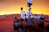 Rover on Mars — Stock Photo